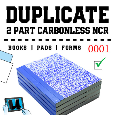 Duplicate 2 Part NCR Books