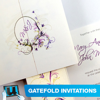 Gate Fold Invitations