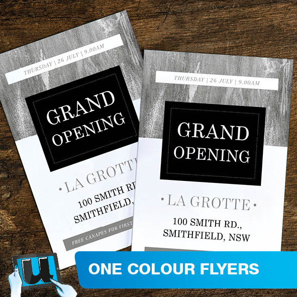 One Colour Flyer Printing