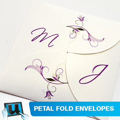 Printed Petal-Fold Envelopes
