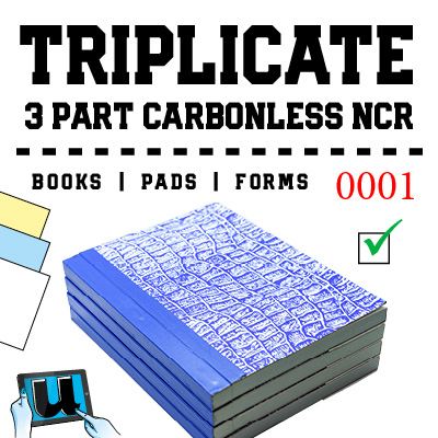 Triplicate 3 Part NCR Books
