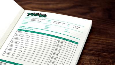 Duplicate Invoice Books Carbonless NCR Books - Custom carbonless invoice book